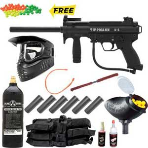 Tippmann A5 Paintball Gun Package